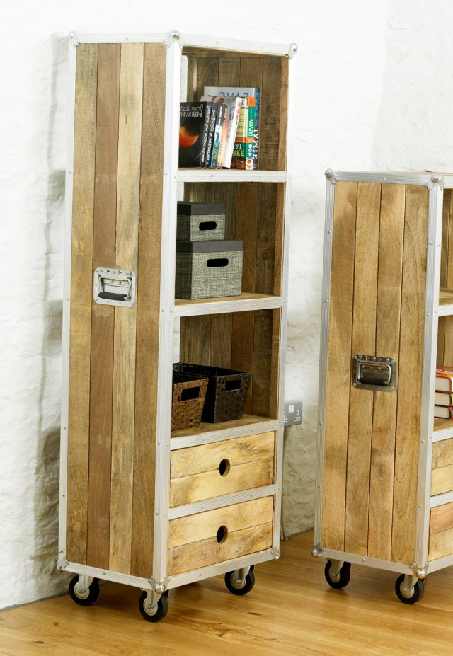 Tall Bookshelf With Drawers