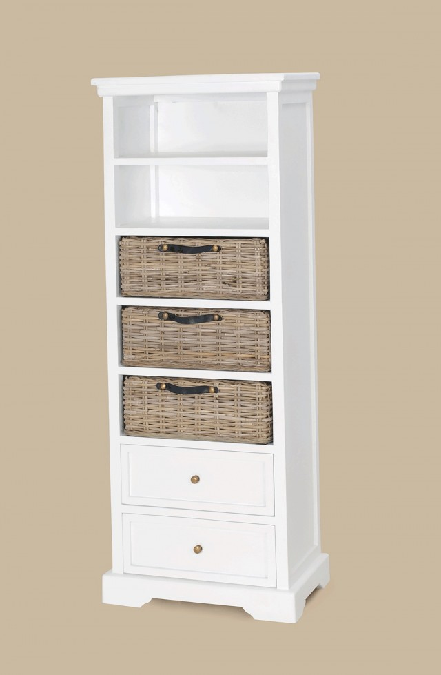 Tall White Bookcase With Drawers