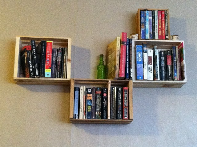 Wall Mounted Bookshelves Diy