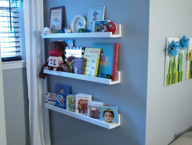 Wall Mounted Bookshelves Nursery
