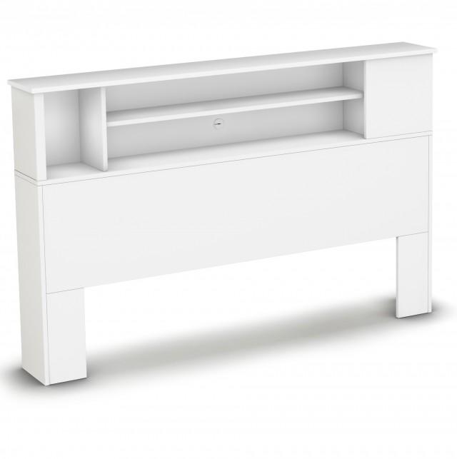 White Bookcase Headboard Full