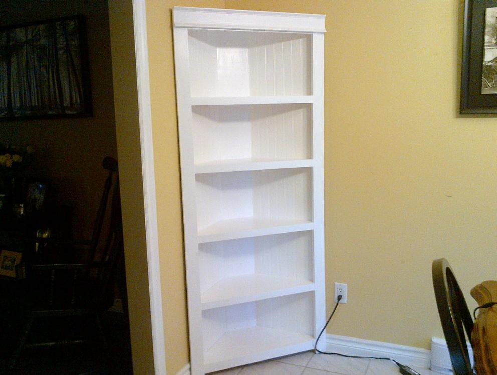 White Corner Bookshelf