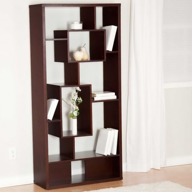 Wood Room Divider Bookcase