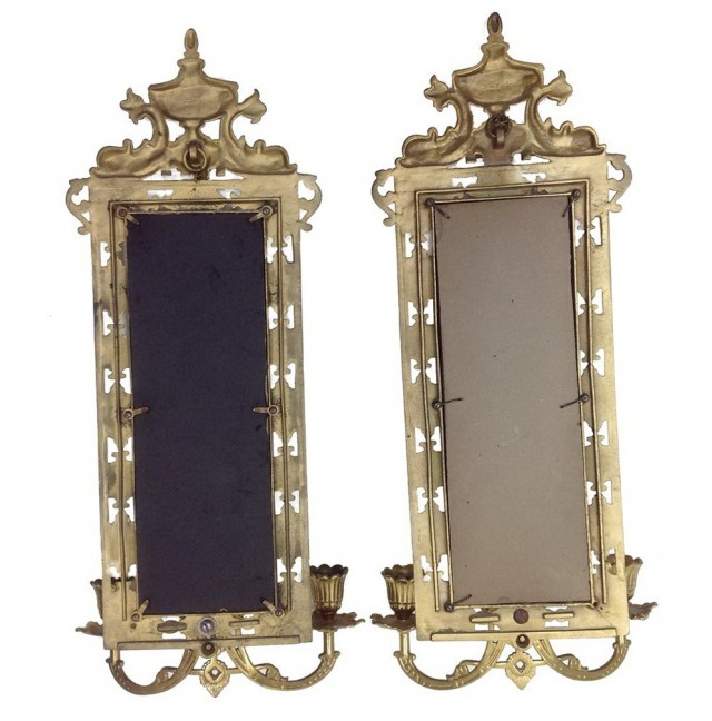 Antique Mirror Candle Wall Sconces