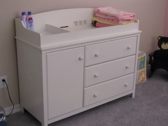 Baby Changing Table Dresser Combo