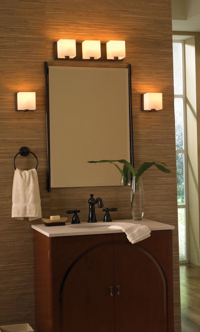 Bathroom Mirror With Wall Sconces