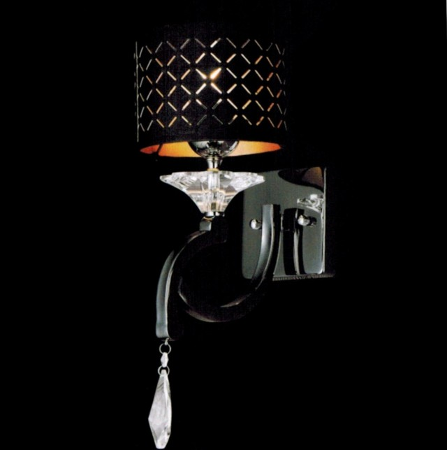 Black Crystal Wall Sconce