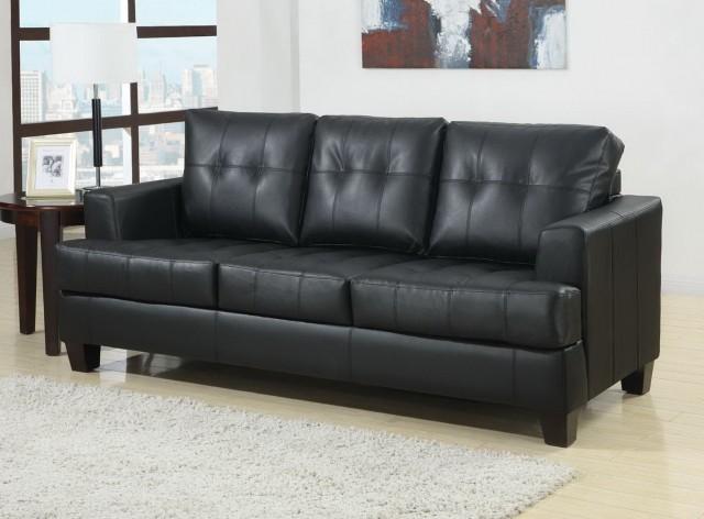 Black Leather Loveseat Sleeper Sofa