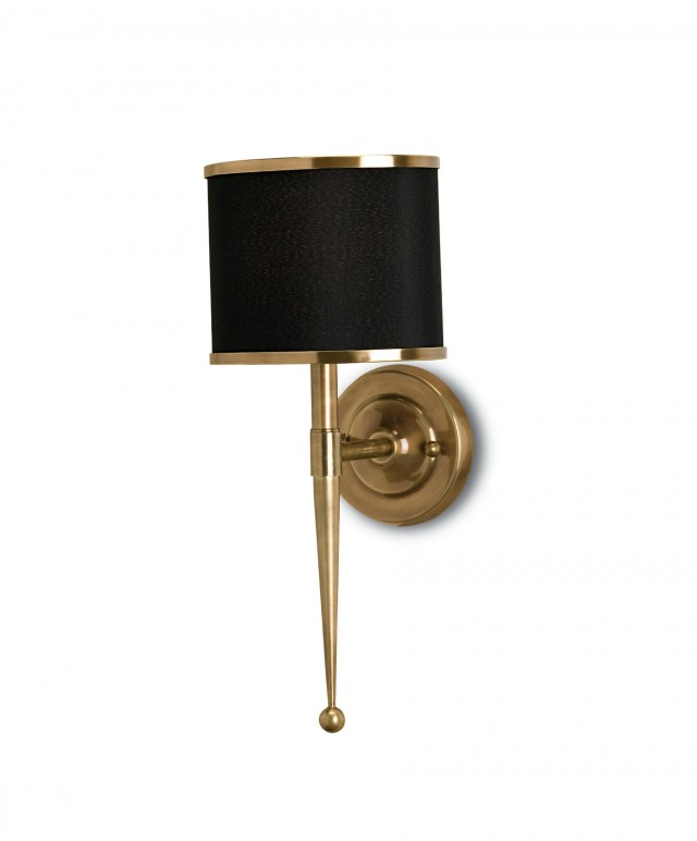 Brass Plug In Sconce