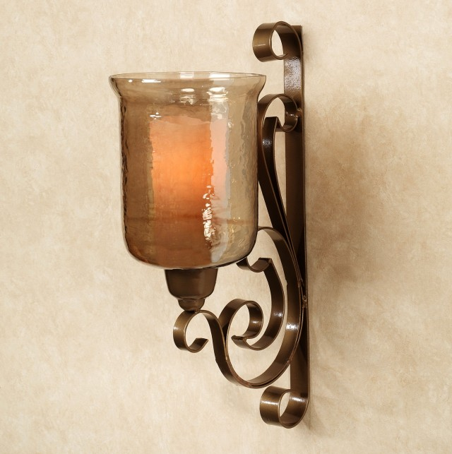 Bronze Candle Wall Sconce