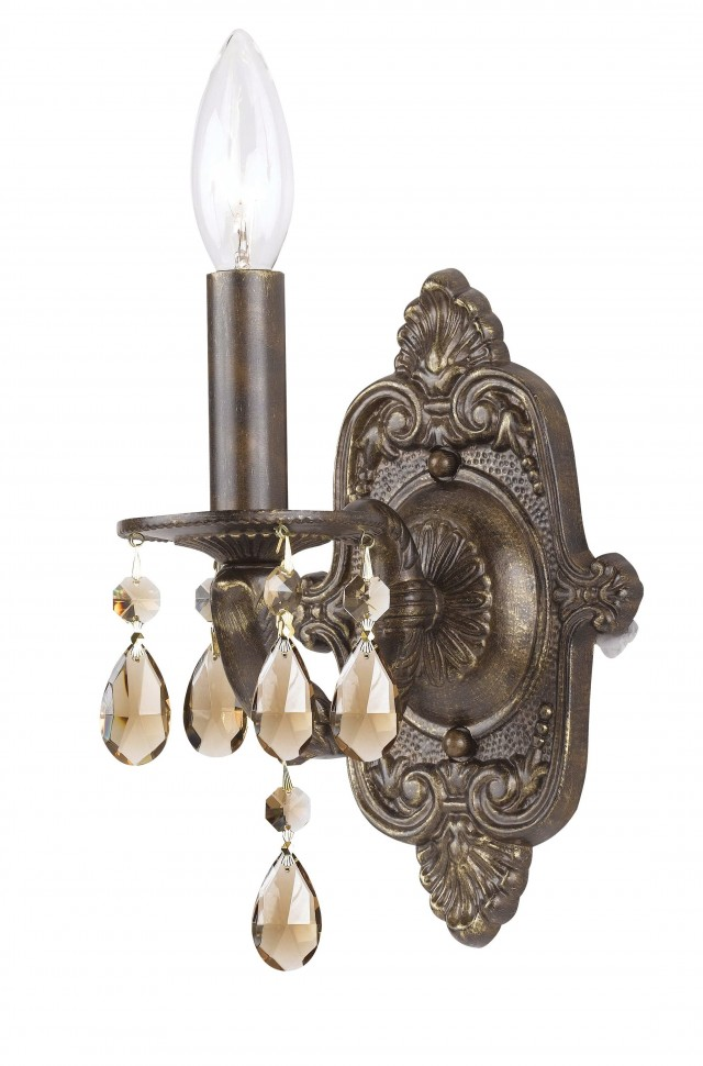 Bronze Crystal Wall Sconce