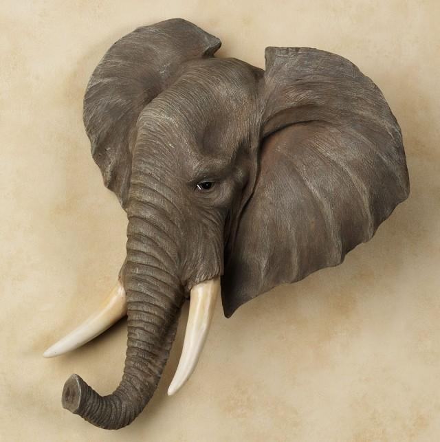 Bronze Elephant Trunk Wall Sconce