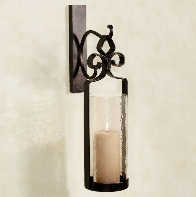 Bronze Wall Sconce Candle Holder