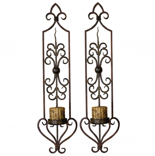 Candle Wall Sconces Wrought Iron