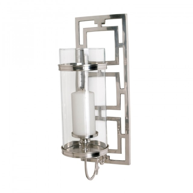Chrome Wall Sconce Candle Holder