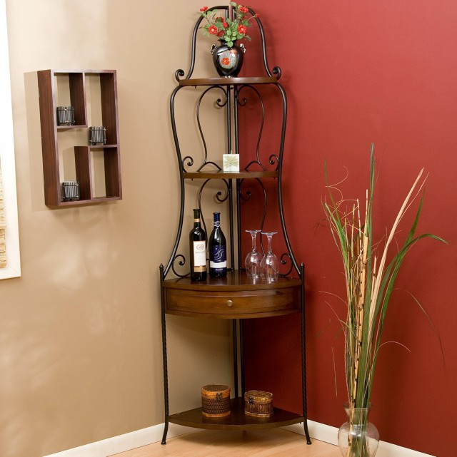 Corner Wine Rack Shelf