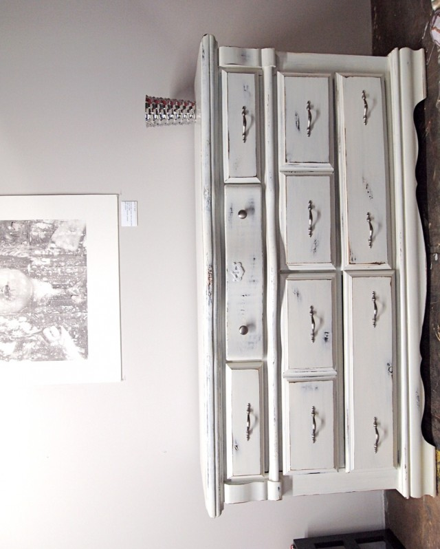 Distressed White Dresser For Sale
