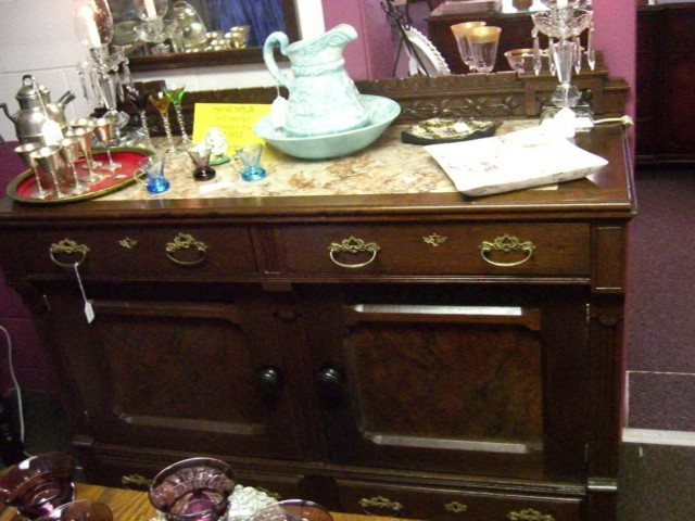 Eastlake Marble Top Dresser