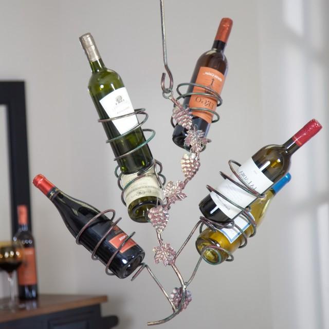 Metal Hanging Wine Rack