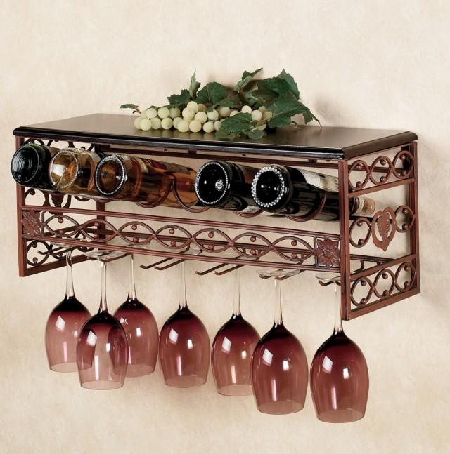 Modern Hanging Wine Rack