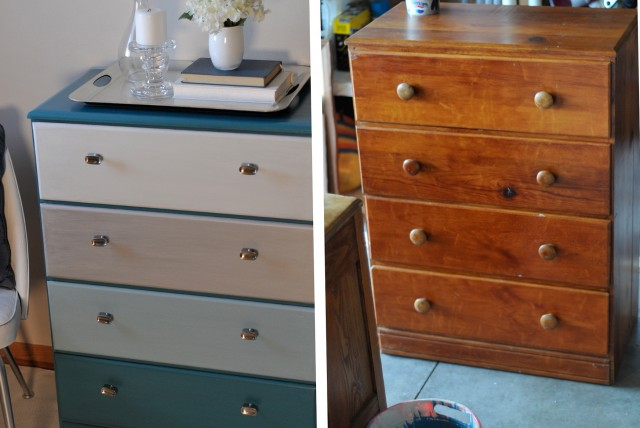 Refinishing A Dresser Before And After