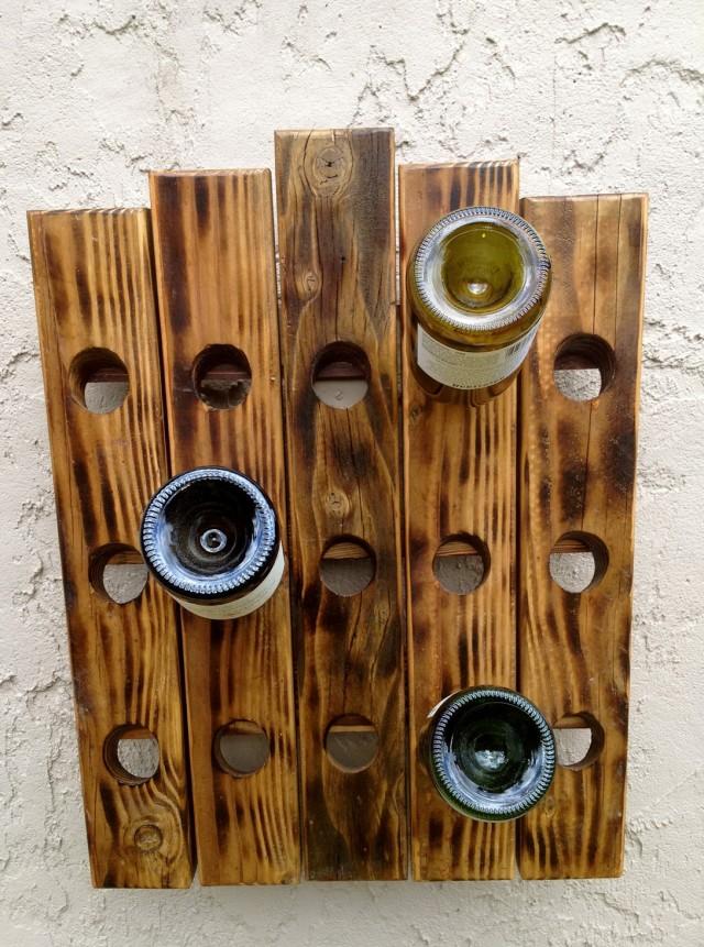 Rustic Wood Wine Racks