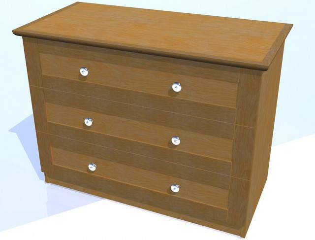 Small Three Drawer Dresser