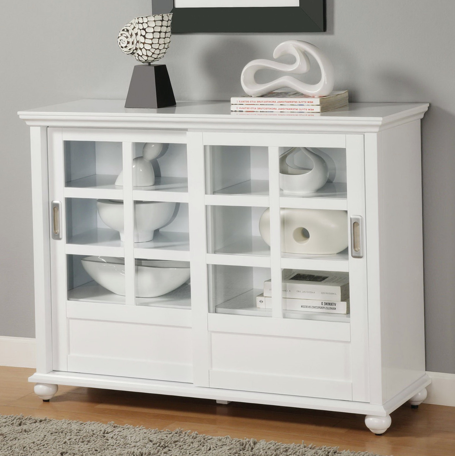 Small White Bookcase With Glass Doors