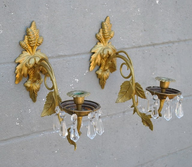 Wall Candle Sconces With Crystals