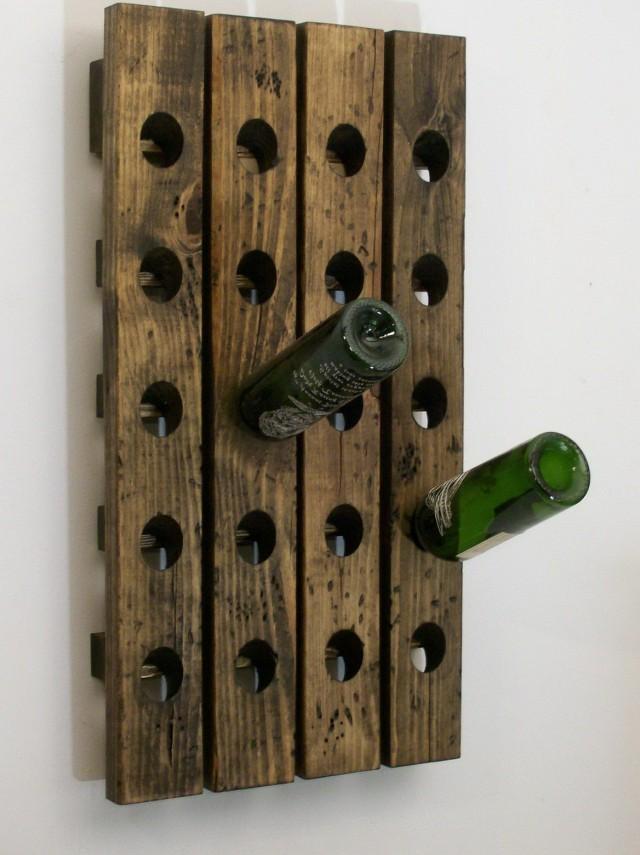 Wall Mounted Wine Racks Wood