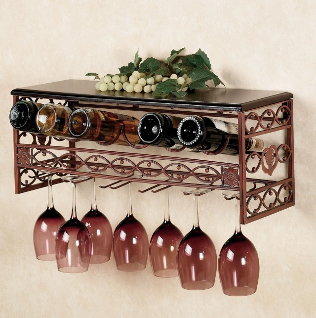 Wall Mounted Wire Wine Racks