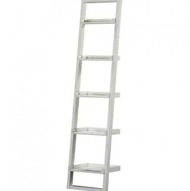 White Leaning Bookcase Ikea