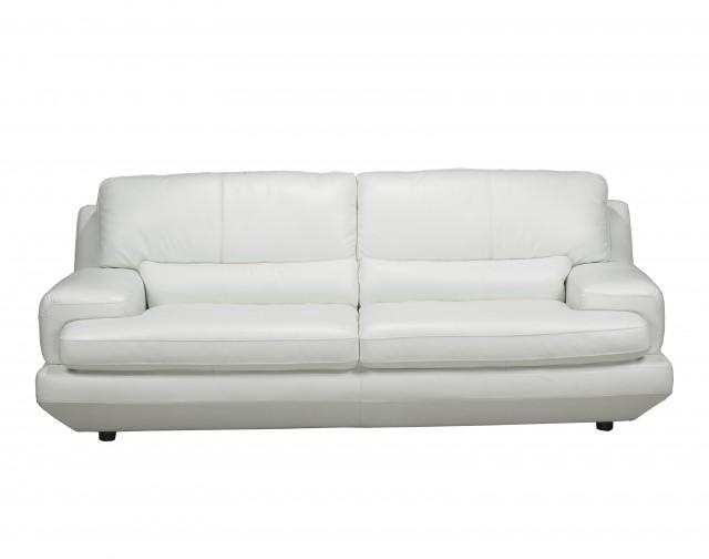 White Leather Loveseat Ikea