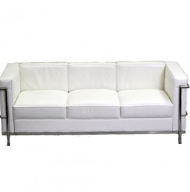 White Leather Loveseat Lowest Price