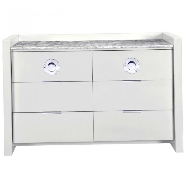 White Marble Top Dresser