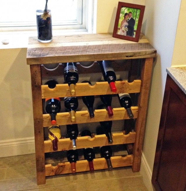 Wine Rack Barn Wood