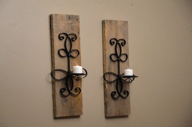Wooden Candle Sconces For The Wall