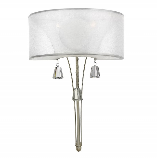 Brushed Nickel Sconce With Shade