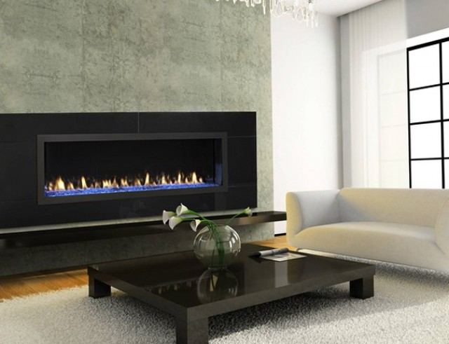 Contemporary Gas Fireplace Surrounds