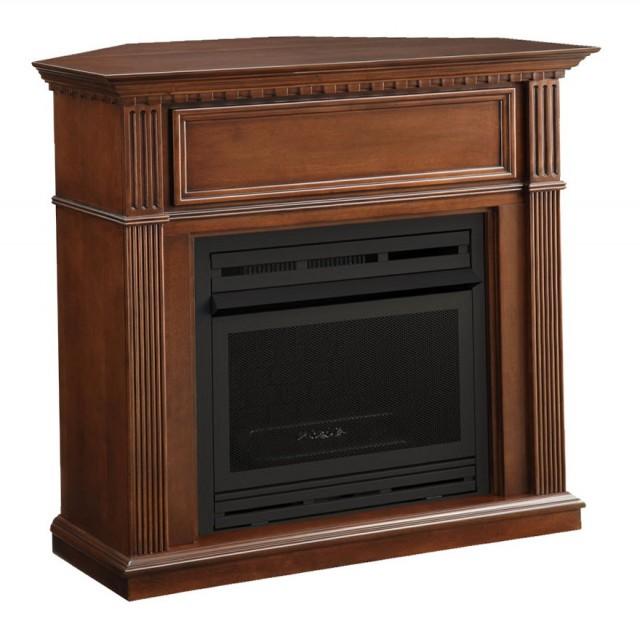 Corner Propane Gas Fireplace