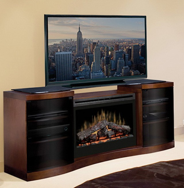 Custom Entertainment Center With Electric Fireplace