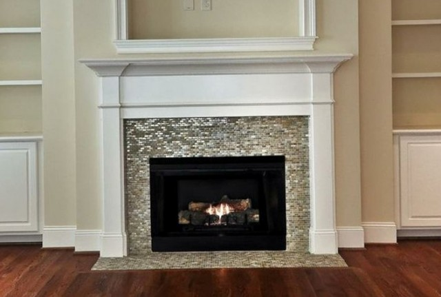 Fireplace Glass Tile Ideas