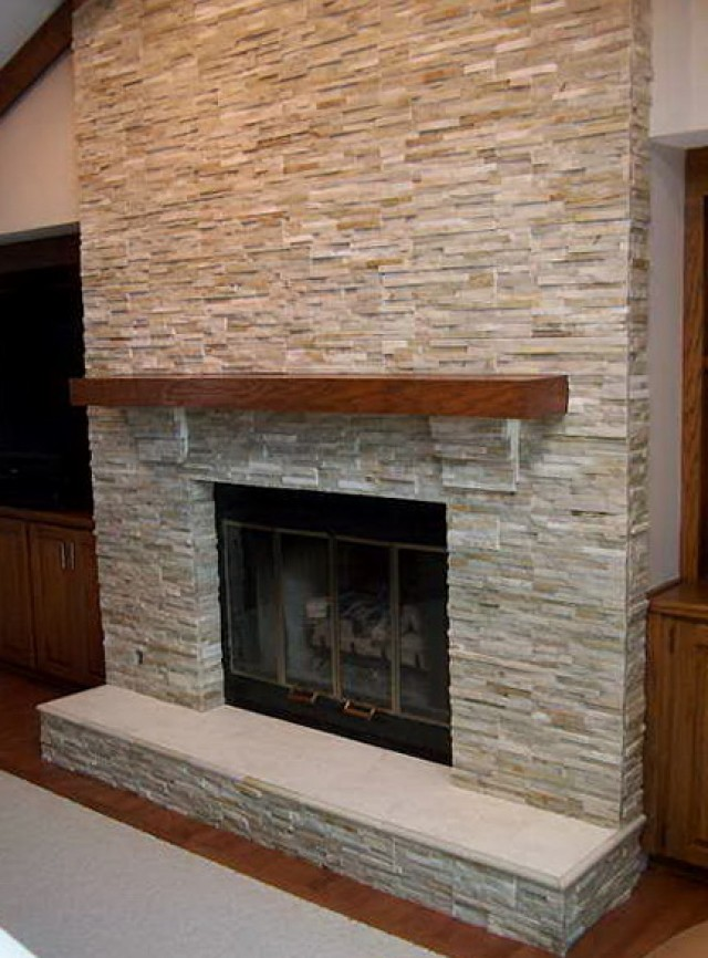 Fireplace Stone Tile Ideas