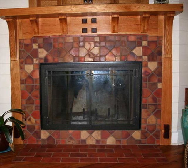 Fireplace Tile Ideas Craftsman