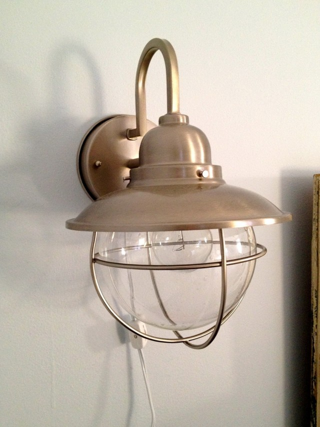 Home Depot Sconce With Switch