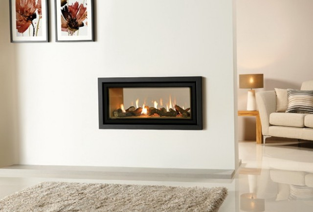 In Wall Fireplace Double Sided