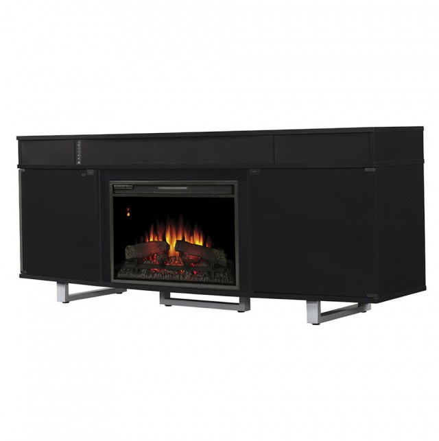 Large Entertainment Center With Electric Fireplace