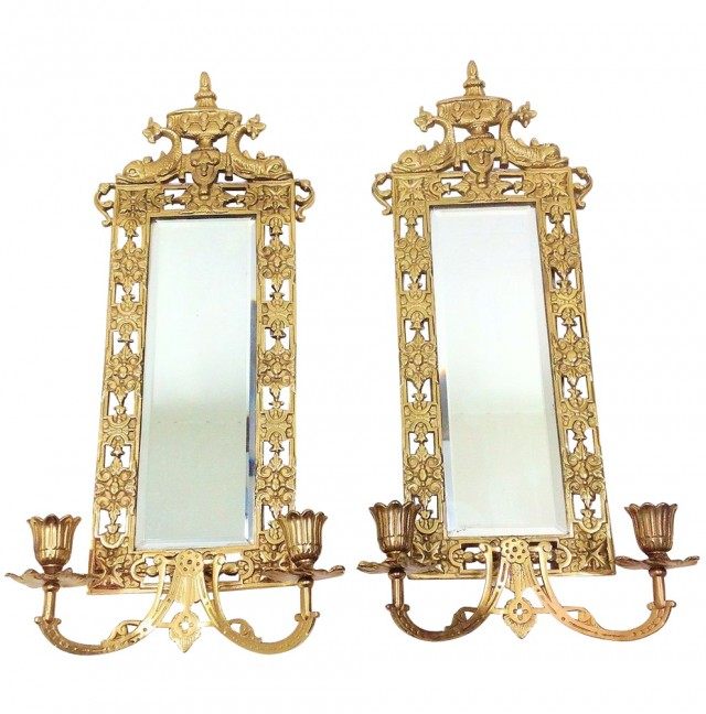 Mirrored Candle Sconce Target