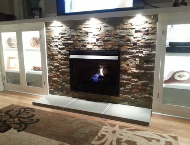 Natural Gas Fireplace Insert With Blower