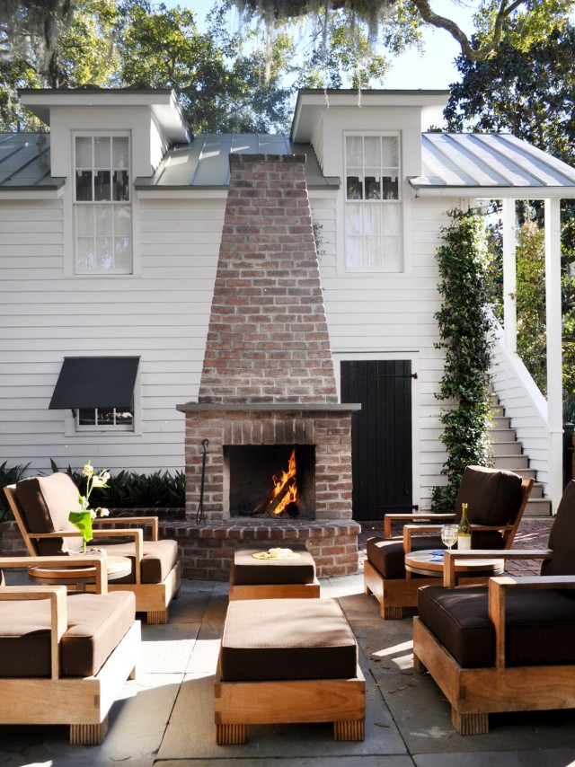Outdoor Brick Fireplace Pictures